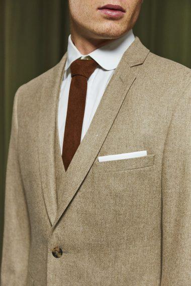 steven-costume-flanelle-beige-lapieceur-detail