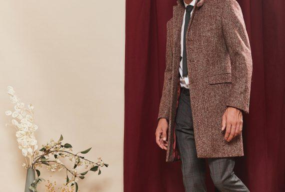 carlo-manteau-drap-laine-chevron-bordeaux