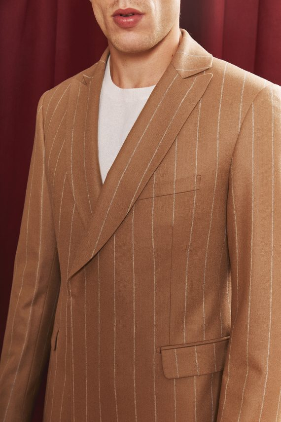 salvador-costume-flanelle-beige-rayee-detail